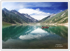 Saif-ul-Malook (M. Asif - AWAY !) Tags: blue pakistan red sky lake snow mountains reflection green water clouds canon boat boating bec northernareas soe ppo naran naturesfinest saifulmalook eos30d 1785mmf456 masif shieldofexcellence platinumphoto flickraward infinestyle theperfectphotographer pakistaniphotographersorganisation