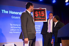 Selected Photos (governorandrewcuomo) Tags: governorandrewmcuomo fightforfairpay communitiesforchange 15 minimumwage livingwage jobs economy mariocuomocampaignforeconomicjustice bellhouse award fightfor15 stage podium jonathanwestin shantelwalker smile warm friendly plaque holdingup brooklyn newyork usa
