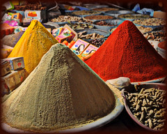 Piles of Spices (blamstur) Tags: cruise red vacation brown gold market morocco spices souk taroudant anotherchallengegroup