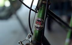 motobecane (dogwelder) Tags: california france green film bike bicycle neck may frame zurbulon6 2009 motobecane 50mmprime olympusom4ti zurbulon