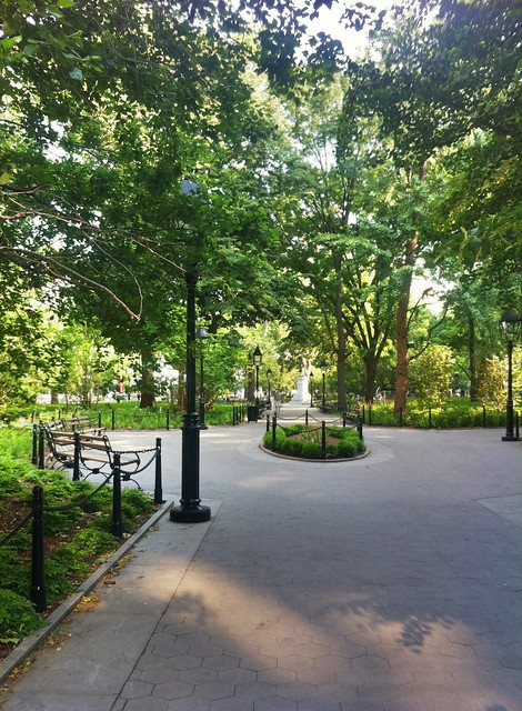 Washington Square Park, southeast entrance