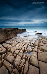 Earthly Textures (Lockie Cooke) Tags: ocean longexposure morning sea sun seascape texture beach water sunrise canon sand rocks surf waves air salt australia qld land filters swell 1740mm sunshinecoast headland beachscape coolum nd400 coolumbeach mtcoolum cokinp121s pointarkwright 5dmkii lockiecooke