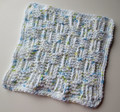 Free Crochet Pattern For Basket Weave Dishcloth : dishcloth My Recycled Bags.com