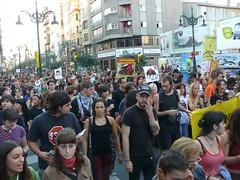 Manifestación antitaurina en las fiestas del pilar 2007 de Zaragoza