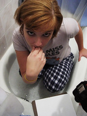Sandra In The Tub (Rob Boudon) Tags: wet bubbles bathtub suds actiongirl sandrasoroka sandraesoroka