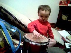 Talia drumming