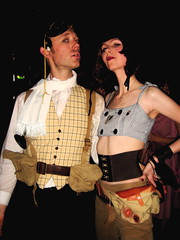 Peter and Tammy (siberfi) Tags: party white man male london club vintage costume glamour creative goggles wm retro sp dressingup imagination cabaret kingscross mischief fancydress steampunk lascala whitemischief whitemischieffromtheearthtothesun