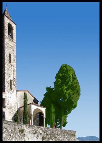 The old church of Belgirate, on our Lago Maggiore.