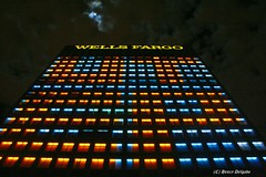 Wells Fargo Bldg (Satxvike) Tags: orange nightshot wellsfargo lunatic orangeandblue utep alongtimeagoinagalaxyfaraway satxvike henrydelgado ~wevegotthepower~ top20texas starwarsbank minerpride