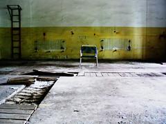 alone with everybody (god.universe) Tags: blue abandoned yellow wall jaune germany deutschland chair alone decay ruin bleu ruine gelb blau brandenburg heating stuhl mauer verlassen heizung verfall zerfall excellentshot