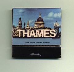 Thames TV: book matches (Peter Denton) Tags: uk london logo tv letters smoking broadcasting lettering matches smokers 1980s trivia londonist broadcasters bookmatches thamestelevision tvstations televisionstations thamestv