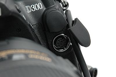 10-pin remote terminal on the Nikon D300