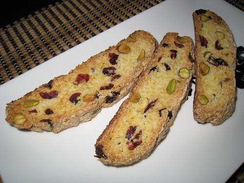 Cranberry, Orange and Pistachio Biscotti
