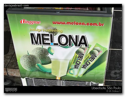 The latest craze, melon ice-cream