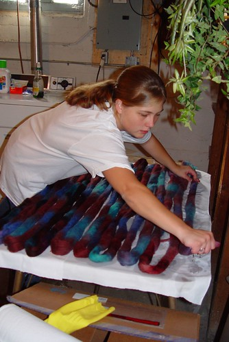 Dyeing the fiber