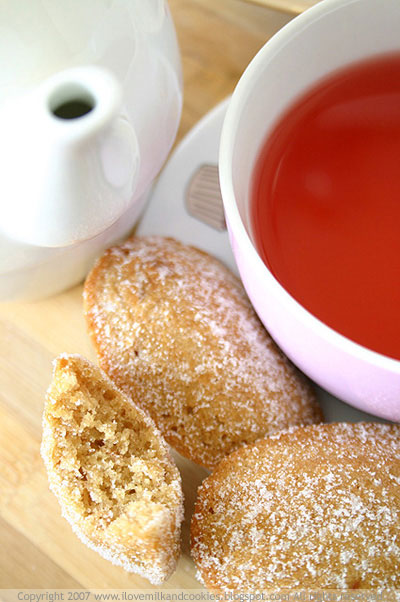 Apple and Cinnamon Madeleines with Raspberry Tea
