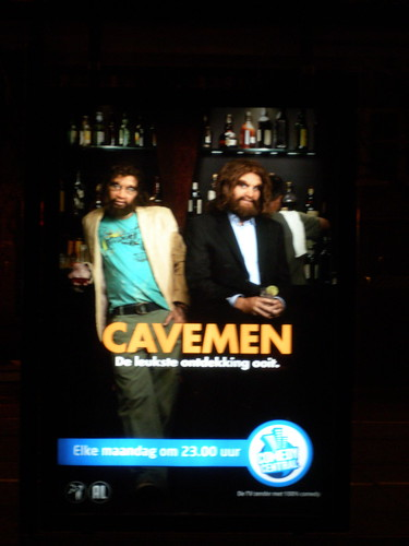 cavemen advertise English