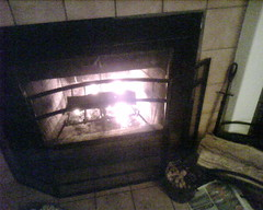 new fireplace set up