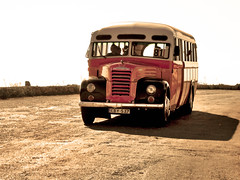 Maltese Bus (Giuseppe Suaria) Tags: old sunset bus car coach tramonto malta pullman maltese autobus corriera