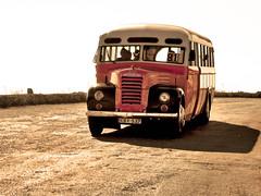 Maltese Bus (Giuseppe Suaria) Tags: old sunset bus car coach tramonto malta pullman maltese autobus corriera