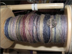 Josie yarn, plying progress
