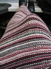 Mom's Lap Shawl at work