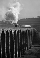46229 Ribblehead (geoffspages) Tags: monochrome steam