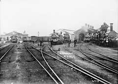 Redfern Station (Powerhouse Museum Collection) Tags: railroad station gare sydney tracks trains nb historic steam engines transportation nsw rails railways trainspotting steamengine locomotives redfern powerhousemuseum terminus steamtrains chemindefer vapeur railwayworkers xmlns:dc=httppurlorgdcelements11 trainststion dc:identifier=httpwwwpowerhousemuseumcomcollectiondatabaseirn351914 railwayinfrastructure locomotiveno1