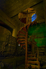 Spiral (Noel Kerns) Tags: urban abandoned night hotel texas baker wells haunted mineral ghosts exploration urbex