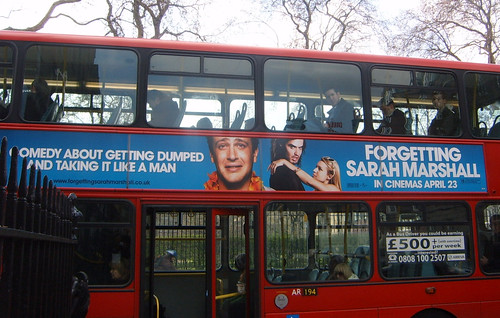 Forgetting Sarah Marshall Ad on London Bus