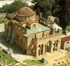 Monasterio de Dafni o Dafne, Grecia.