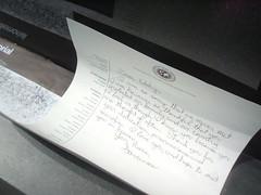 letter (petit hiboux) Tags: washingtondc vietnammemorial weekendgetaway april2008 objectsleftatthewall