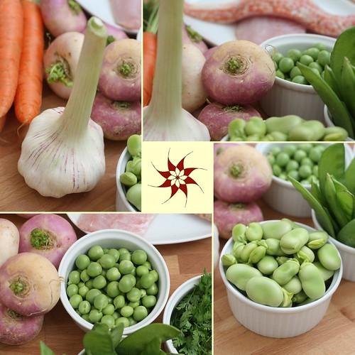Montage de petits légumes