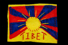 Hand-Embroidered Tibetan Flag