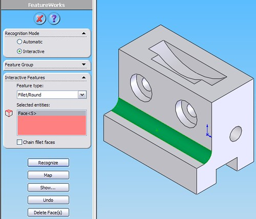 Kết Hợp AutoCad và SolidWorks – Phần 4: Công cụ FeatureWorks trong Solidworks