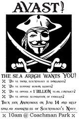 Operation Sea Arrgh 6/14/8 (Anonymous9000) Tags: protest scientology cult conjob anonymous scam fraud freespeech dianetics xenu organizedcrime firstamendment seaorg davidmiscavige chanology criminalorganization seaarrgh seaarrrgh