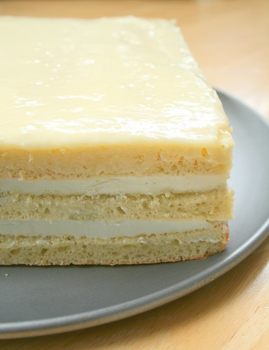 Green Tea White Chocolate Opera Cake