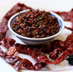Szechuan peppercorn and dried chillies