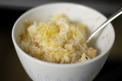 rice with egg and furikake