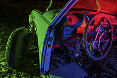 Beetle Interior Redux (Notley Hawkins) Tags: missouri notley notleyhawkins 10thavenue httpwwwnotleyhawkinscom missouriphotography notleyhawkinsphotography ruralphotography light lightpainting greenlight green night nocturne midwest ruralusa evening red redlight rgblightpainting salvageyard boneyard autoyard autosalvage bcautoservices freeburgmo freeburgmissouri osagecountymo osagecounty volkswagen 2017 february beetle rgb interior steeringwheel
