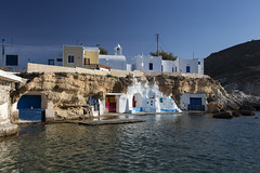 5 Islands: Milos – Boat Garages (Thomas Mülchi) Tags: cycladesislands cyclades 2016 milos sun sea spring islandhopping southaegean greece bluesky sky boatgarage mandrakia egeo gr