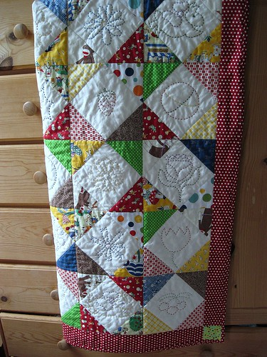 finished school auction quilt