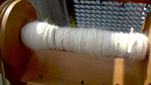 spinning first yarn :D
