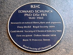 Photo of Edward Schunk blue plaque