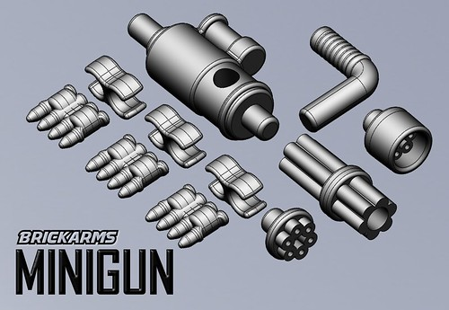Custom minifig BrickArms Minigun - Coming June 1st