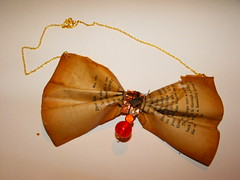 Paper bow necklace (peskychloe) Tags: handmade jewellery independent copper lbc peskychloe lifesbigcanvas