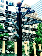 Portland - Pioneer Square Sign