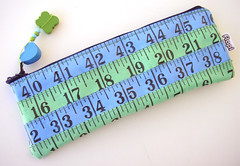 Blue and Green Measuring Tape Case