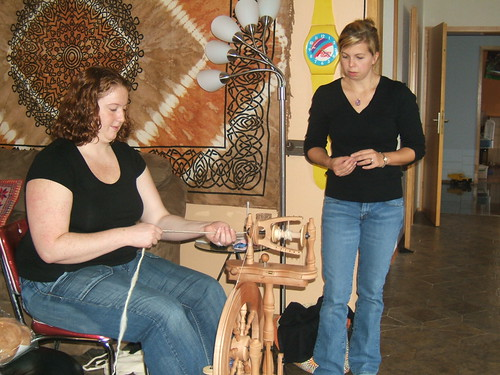 Rachel (right) teaching Jillian