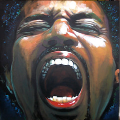 Screaming Malik (Cauquil Claude) Tags: portrait man black color male art colors america painting eyes friend artist martinique fineart carribean peinture soul caribbean malik coolest couleur blackmale bayard caribean caraibe contemporain acrilyc carribe carabe malikwilliams abigfave artlibre kokil cauquil